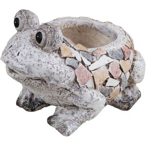 Country Living Mosaic Polystone Planter - Frog