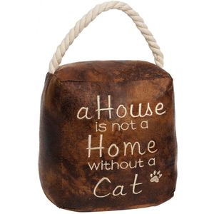 Door Stop - A Home Is Not A Home Without A Cat