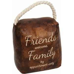 Juliana Home Living Door Stop - Friends Welcome Family By Appointment Only