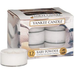 Yankee Candle Tea Lights 12 Pack - Baby Powder