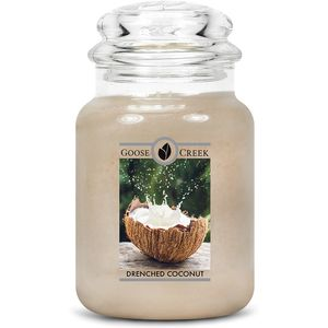 Goose Creek Large Jar Candle - Drenched Coconut