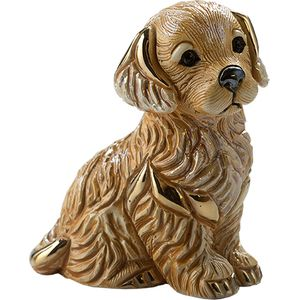 De Rosa Golden Retriever Puppy Figurine