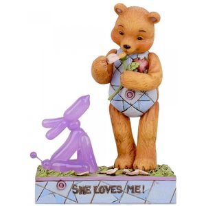 Button & Squeaky by Jim Shore Figurine - She Loves Me (Button in Love)
