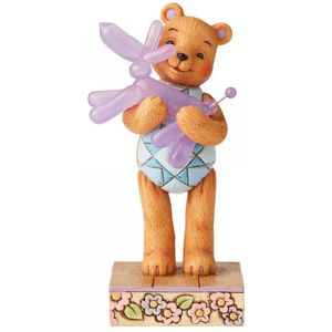 Button & Squeaky by Jim Shore Figurine - Bear Hugs (Button Hugging Squeaky)