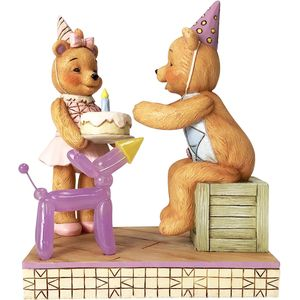 Button & Squeaky by Jim Shore Figurine - Make a Wish (Happy Birthday)