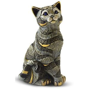 De Rosa Blue Striped Cat Figurine