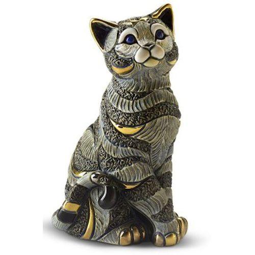 De Rosa Blue Striped Cat Figurine 1035B