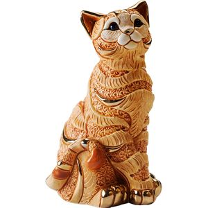 De Rosa Orange Striped Cat Figurine