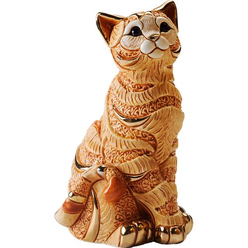 De Rosa Orange Striped Cat Figurine 1035O
