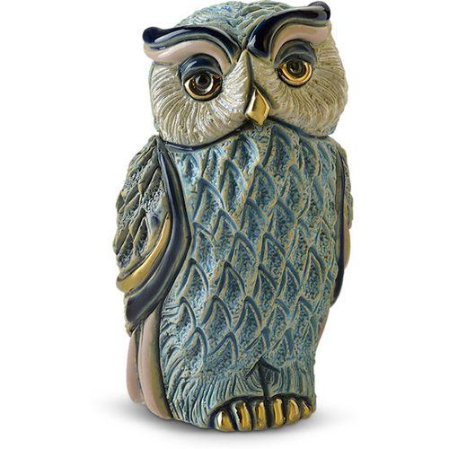 De Rosa Turquoise Owl Figurine F221