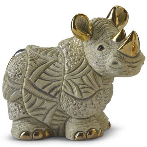 De Rosa White Rhino Figurine F220