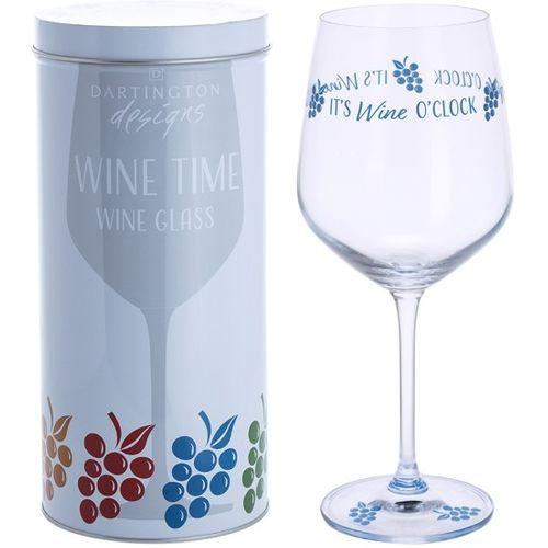 Dartington Wine Glass: Wine Time Collection - It`s Wine O`Clock