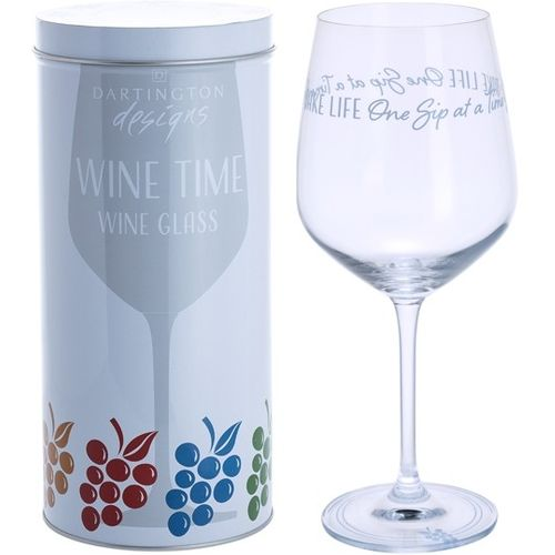 Dartington Wine Glass: Wine Time Collection - Take Life One Sip At A Time