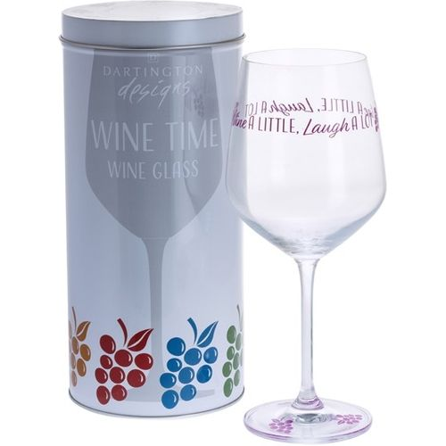 Dartington Crystal Wine Glass:  Wine Time Collection - Wine A Little Laugh Alot
