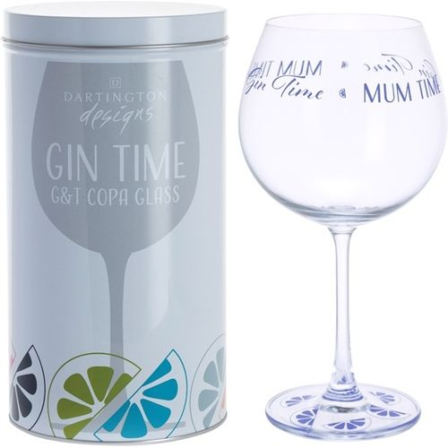 Dartington Gin Copa G&T Glass: Gin Time Collection Mum Time