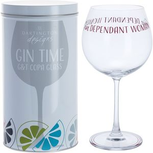 Dartington Gin Copa G&T Glass: Gindependant Woman