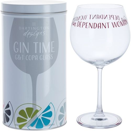 Dartington Gin Copa G&T Glass: Gin Time Collection Gindependant Woman