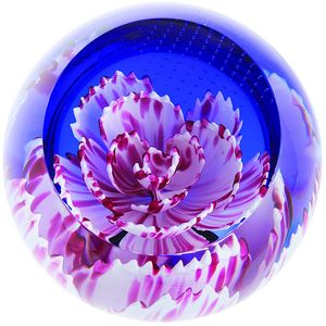 Caithness Glass Paperweight: Floral Charms - Carnation