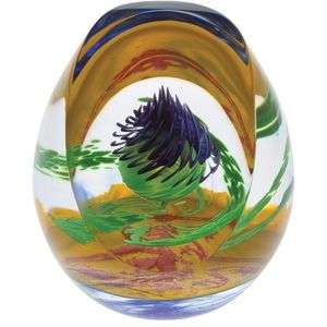 Caithness Glass Paperweight: Scottish Royal Thistle