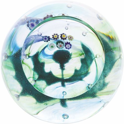 Caithness Glass Paperweight: Scottish Collection Mini Thistle