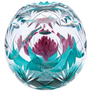 Caithness Glass Paperweight: Hot House Magenta Magic
