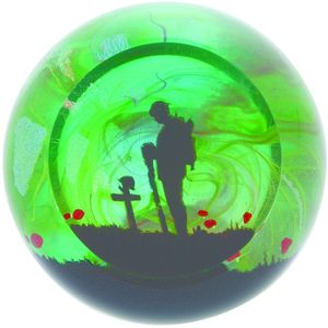 Caithness Glass Paperweight: Remembrance For The Fallen
