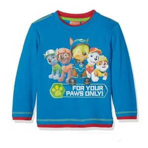 Boys Paw Patrol Long Sleeved T Shirt Top Age 5 Years