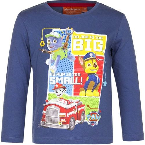 Boys Paw Patrol No Job is Too Big No Pup is Too Small Long Sleeved T Shirt Top Age 5 Years
