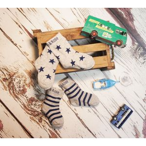 Navy & Grey Marl Socks - 2-4 Years