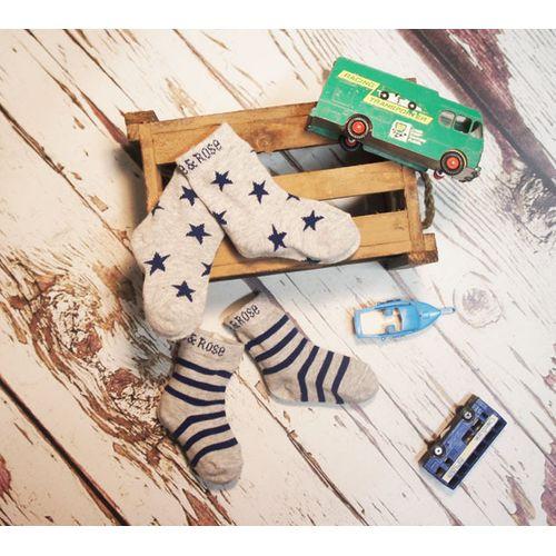 Navy & Grey Marl Socks -6-12 Months