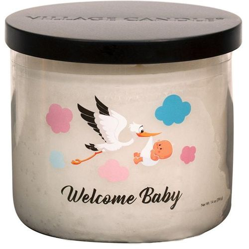 Village Candle Medium Bowl - Occasions: Welcome Baby