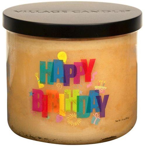Village Candle Medium Bowl - Occasions: Happy Birthday