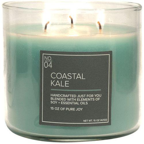 Village Candle Medium Bowl - Soy Blend Coastal Kale