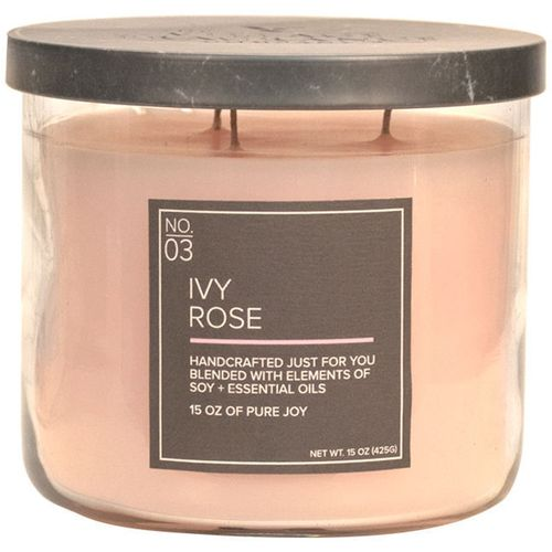 Village Candle Medium Bowl - Soy Blend Ivy Rose