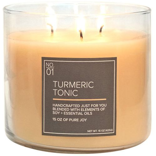 Village Candle Medium Bowl - Soy Blend: Turmeric Tonic
