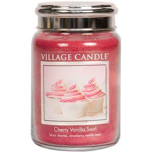 Village Candle Large Jar 26oz - Cherry Vanilla Swirl