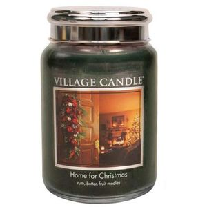 Village Candle Large Jar 26oz - Home for Christmas