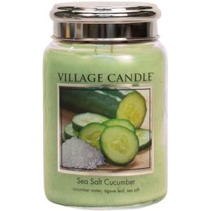Village Candle Sea Salt Cucumber 26oz Large Jar