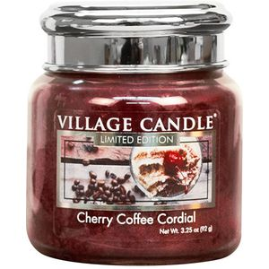 Village Candle Cherry Coffee Cordial 3.75oz Petite Jar