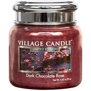 Village Candle Dark Chocolate Rose 3.75oz Petite Jar
