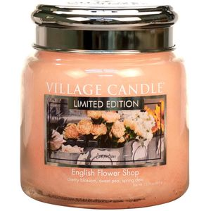 Village Candle English Flower Shop 16oz Medium Jar