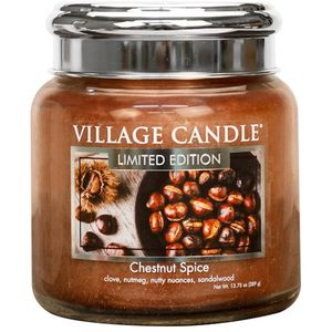 Village Candle Medium Jar 16oz - Chestnut Spice