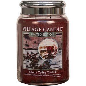Village Candle Large Jar 26oz - Cherry Coffee Cordial