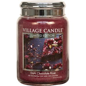 Village Candle Dark Chocolate Rose 26oz Large Jar