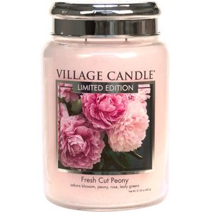 Village Candle Fresh Cut Peony 26oz Large Jar