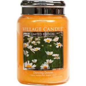 Village Candle Large Jar 26oz - Dancing Daisies