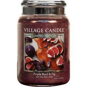 Village Candle Large Jar 26oz - Purple Basil & Fig