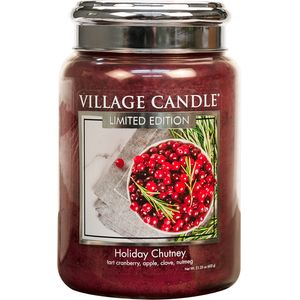 Village Candle Large Jar 26oz - Holiday Chutney
