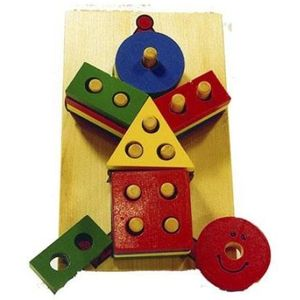 Geo Clown Puzzle (Wooden Toy)