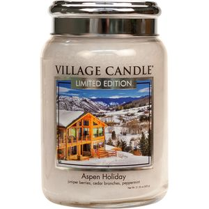 Village Candle Large Jar 26oz - Aspen Holiday